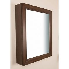 This Bellaterra Home Surface-Mount Mirrored Medicine Cabinet in Sable Walnut finish is ideal for those bathrooms with limited wall space. This wood cabinet offe Wood Medicine Cabinets, Surface Mount Medicine Cabinet, Medicine Cabinet Mirror, Mirror Cabinets, Wood Cabinets, Vanity Mirrors, Bathroom Cabinets, Medicine Storage, Wood Surface