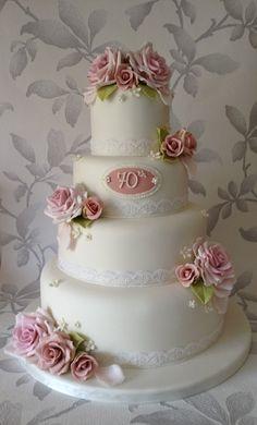 Vintage inspired birthday cake