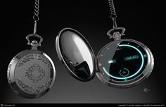 Gadgets And Gizmos, Technology Gadgets, Tech Gadgets, Digital Pocket Watch, Modern Pocket Watch, Cool Watches, Watches For Men, Accessoires Iphone, Cool Inventions