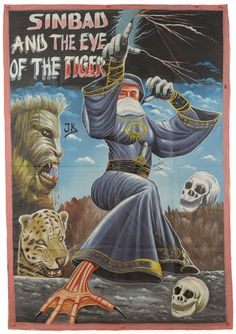 SINBAD AND THE EYE OF THE TIGER - Original Ghana poster