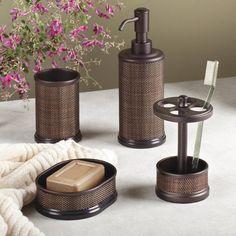 Wicker Rattan Bathroom Accessories