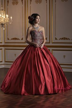 cd79b3bd1b0 65 Best Red Quinceanera Dresses images in 2019