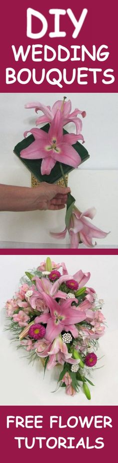 How to Make Wedding Flower Bouquets - Easy DIY Flower Tutorials   Learn how to make bridal bouquets, corsages, boutonnieres, table centerpieces and church decorations. Buy fresh flowers and discount florist supplies.