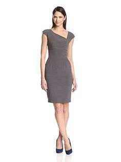 SOCIETY NEW YORK Womens Asymmetrical Neck Dress