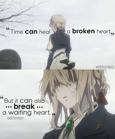 Sad Anime Quotes, Manga Quotes, Anime Quotes About Life, Anime Violet Evergarden, Healing A Broken Heart, Dark Quotes, Quotes Quotes, A Silent Voice, Love Hurts