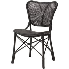 """Rattan frame with rattan peel weaving.  <b>Color: Espresso</b>  Seat Height: 18.75"""""""