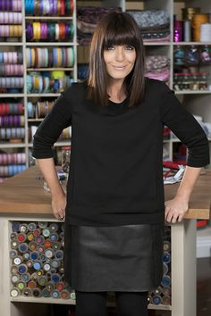 The Great British Sewing Bee presenter, Claudia Winkleman. We love her for her puppy-dog enthusiasm and her cheeky wit!