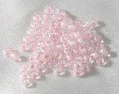 20 Grams Size 8/0  Miyuki Japanese Glass Seed Beads Pink Lined Crystal AB