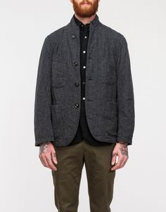 Grey Herringbon Bedford Jacket | Need Supply Co.