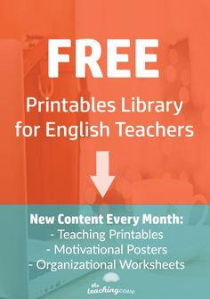 Want access to a free printables library for teaching, organizational and motivational printables? Grab access to free printables with monthly updates here! Free Teaching Resources, Teaching Tips, Teacher Resources, Teaching Grammar, Teaching English, Motivational Posters, Motivational Monday, Teaching Technology, Study Skills