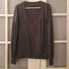 Express v-neck sweater heather gray This sweater is from express, is a cotton/rayon/nylon blend that's soft and comfy.  Looks very pretty with jeans.  Gently worn, still in great condition. Express Sweaters V-Necks