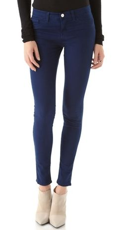J Brand 811 Mid Rise Luxe Twill Skinny Jeans | SHOPBOP