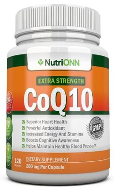 CoQ10 200mg (Double Strength), 120 Capsules - High Absorption Coenzyme Q10 - Clinically Proven Extra Strength CoQ10 Ubiquinone - 4 Month Supply! NutriONN http://www.amazon.com/dp/B00I3J71EI/ref=cm_sw_r_pi_dp_8jCrub01SDX5P