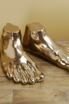 Gulliver's Gold Feet - Set of 2 by Interlude Home on @HauteLook
