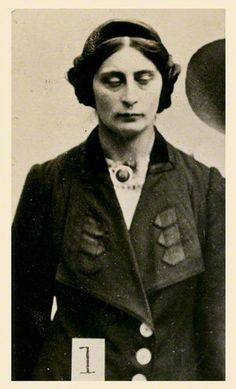 1913 Margaret Scott One of the women that Scotland Yard photographed and put under surveillance because she was a suffragette. This is what they did with their first camera purchased.