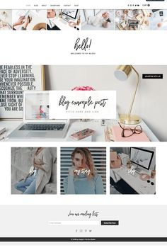 Wix Shop, Blog Website Template by Happy in the Sun Studio on @creativemarket