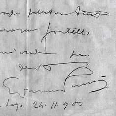 biglietto autografo di Giacomo Puccini  [item not for sale]