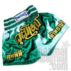 Twins green muay thai shorts
