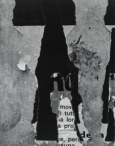 "Aaron Siskind(1903 –1991), American   abstractive photographer //""Rome 55"", Gelatin silver print (1963)"