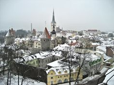 Vista de Tallin, Estonia