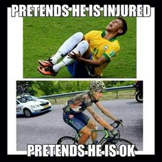 Pretends he is injured. Pretends he is ok so he can keep riding.