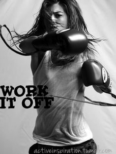 love me some boxing, work it off is something I say all the time.  Especially when I am under a lot of stress.