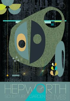 Barbara Hepworth 'St Ives' Inspired Print  29cm x by GraffikHeart, $18.00