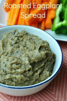 Roasted Eggplant Spread: an easy gluten free and vegan dip, or delicious on a…