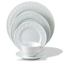 Louvre from Bernardaud...  The perfect white pattern.  Patterned after the architecture of the Louvre Museum.