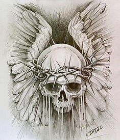 Like the wings, minus the skull Skull Tattoo Design, Skull Design, Skull Tattoos, Art Design, Body Art Tattoos, Sleeve Tattoos, Tattoo Designs, Evil Skull Tattoo, Key Tattoos