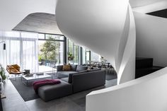 Light is the consummate sculptor in this contemporary inner-city Tamboerskloof sanctuary by Renato Graca of GSquared Architects. Cabinet D Architecture, Interior Architecture, Interior Design, Amazing Architecture, Room Interior, Zinc Cladding, South African Homes, Outdoor Carpet, A Frame House