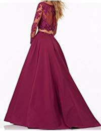 BessDress Two Pieces Lace Bodice Beads Prom Dresses Long Sleeves Evening Party *** Check out the photo link even more details. (This is an affiliate link). Prom Dresses Two Piece, Prom Dresses For Teens, Prom Dresses Long With Sleeves, Summer Dresses For Women, Spring Dresses, Long Gown Dress, Dress Formal, Cheap Long Dresses, Sexy Dresses