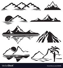 Mountains Royalty Free Vector Image - VectorStock Free Vector Art, Vector Icons, Montain Tattoo, Photos Free, Map Tattoos, Tatoos, Mountain Drawing, Mountain Outline, Mountain Art