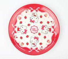 Hello Kitty Melamine Plate: Strawberry