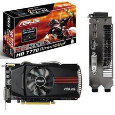 Radeon HD7770 1020MHz by Asus. $163.29. Radeon HD7770 1020MHz9/4/12 EOL, Replacement HD7770-DC-1GD5-V2. Model name HD7770-DC-1GD5 Positioning Performance Bus Standard PCI Express 3.0 Selling Points. 20% Cooler with exclusive DirectCU thermal solution. 1020 MHz Overclock for better performance and outstanding gaming experience. GPU Tweak utility allows you to tune graphics card performance and check card status via an intuitive interface. New PCI Express 3.0 deliver...