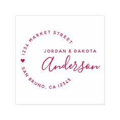 Heart & Elegant Script Newly Weds Return Address Self-inking Stamp #personalized #rubberstamps Wedding Name, Red Wedding, Custom Rubber Stamps, Wood Stamp, Wedding Envelopes, Self Inking Stamps, Envelope Liners, Return Address, Stamping Up