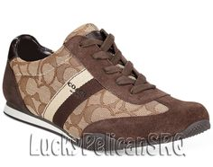 Coach A00775 Kelson Lace-Up Sneakers M(Medium) Khaki/Chestnut Brown NWB #Coach #Sneakers