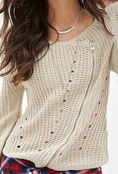Asymmetric Zipper Cardigan | FOREVER 21 - 2055878272
