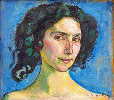Ferdinand Hodler (Swiss painter, 1853-1918) An Italian Woman (looks like dancer Giulia Leonardi, whom he painted several times.)