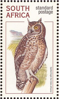 Spotted Eagle-Owl stamps - mainly images - gallery format