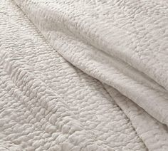 Belgian Flax Linen Hand Stitched Coverlet & Pillowcases-Flax | Pottery Barn AU