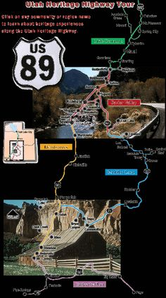 Guide To Driving US Route And A In Arizona And Utah - Us 89 utah map
