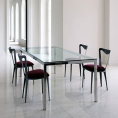 Dining Room Modern Glass Top Dining Tables Image Inspiration For Dining Room Contemporary Dining Chairs, Modern Dining Table, Contemporary Interior, Modern Chairs, Dining Tables, Luxury Furniture, Furniture Design, Tiffany Chair, Glass Top Dining Table