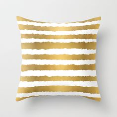 Earning Her Stripes Throw Pillow by Grace Kelly McConnell - $20.00