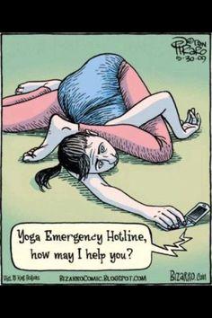 Yoga Emergency Hotline. Lol!
