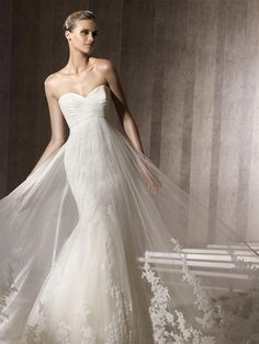 Straplez Prenses Gelinlik Modelleri - Best Strapless Wedding Dresses (34)