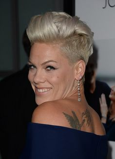 Pink Latest Fauxhawk: Short Hair Style