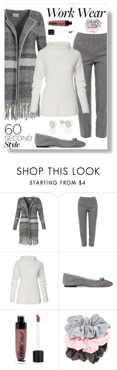 """""""60-Second Style: Work Wear"""" by freida-adams ❤ liked on Polyvore featuring Piazza Sempione, ANNA BAIGUERA and Wet n Wild"""