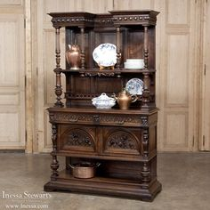 Antique Furniture | Antique Buffets, Antique Sideboards | Renaissance/Gothic Buffets | 19th Century French Renaissance Walnut Display Buffet | www.inessa.com