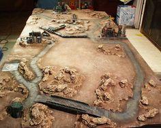 Warhammer 40k tabletop desert